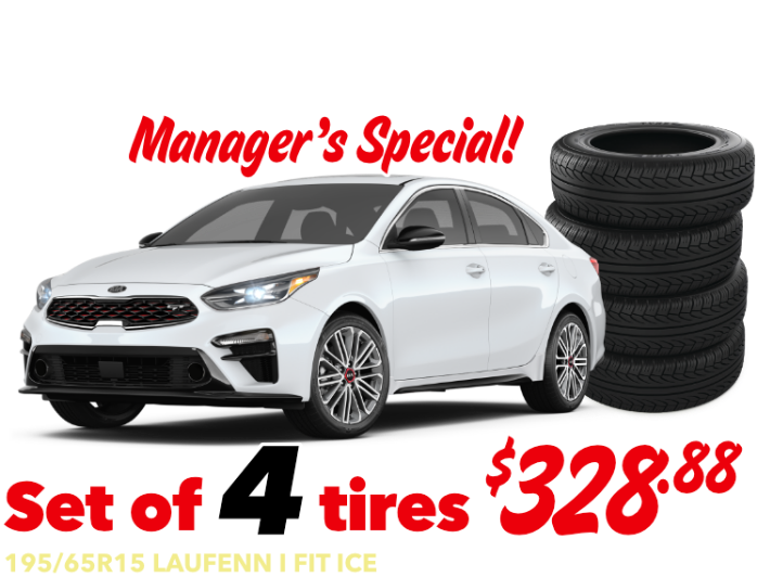 Forte Manager's Special - Forte - Set of 4 tires - 195/65R15 LAUFENN I FIT ICE - $328.88 Installed