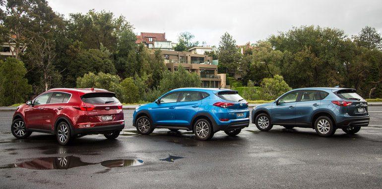 Hyundai Tucson Active X V Kia Sportage Sli V Mazda Cx 5