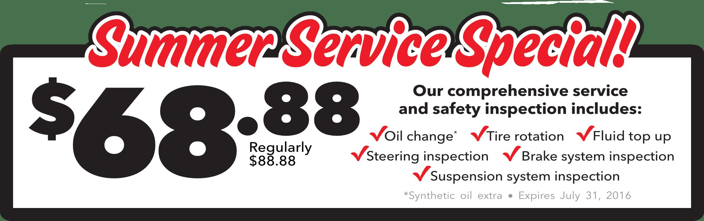 Service Specials Toronto Kia