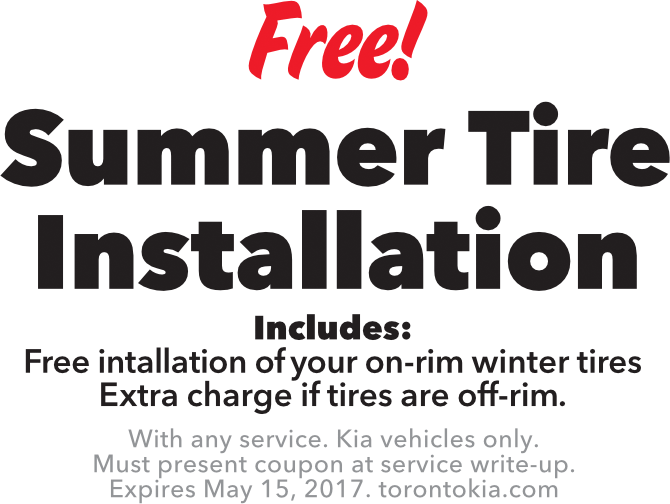 Free Summer Tire Installation