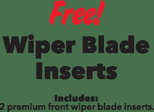Free wiper blade inserts