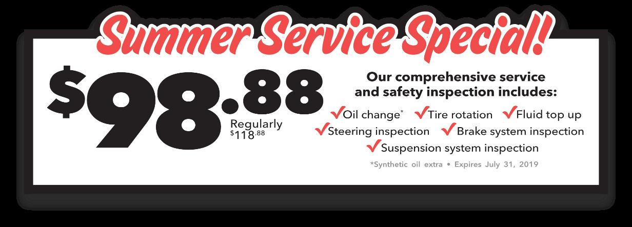Summer Service Special!