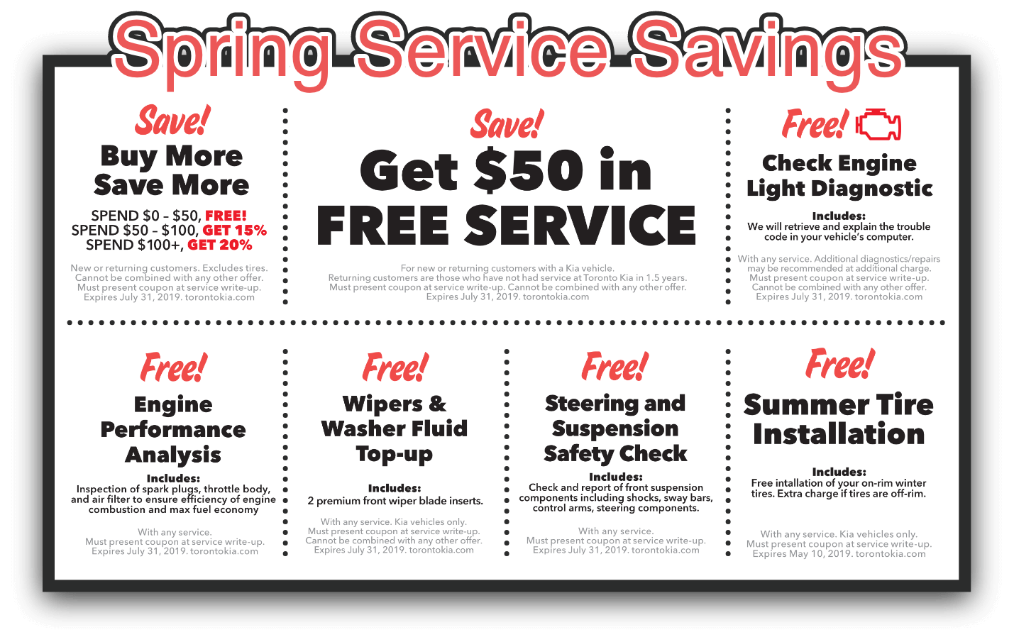 Spring Into Free Serivce.
