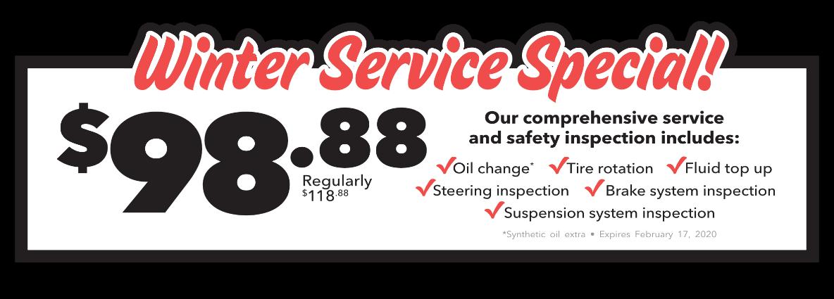 Winter Service Special!